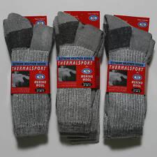 6 Pairs Men Merino Wool Thermal Dress Hiking Camp Socks NEW