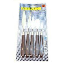 Nuevo juego de cuchillos de paleta Artista Paleta De Cuchillos De Metal Conjunto Espátulas Toolzone