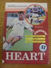01/08/1992 Heart Of Midlothian v Celtic  (Creased, Tiny Piece Missing From Botto