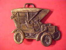 VERY NICE Oldtime Automobile Antique Car Solid Brass Belt Buckle Mens M290