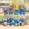 cute stitch cosplay anime figure figures Set of 8pcs doll Toy anime collect
