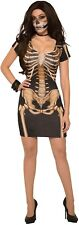 Femme Sexy Maîtresse Squelette Horreur Halloween Fancy Dress Costume Outfit 10-14