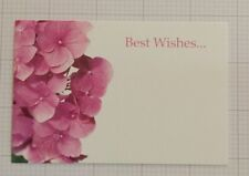 25 Florist Message Cards Floral Pink Hydrangea Best Wishes Cards