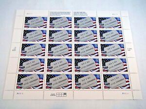 USPS Scott #2966 1995 32¢ Prisoners of War & MIA dog tags 20 count sheet