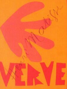 HENRI MATISSE - VERVE 35/36 - ORIGINAL FRONT COVER - 1958 - FREE SHIP IN US !!!