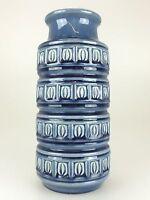 70er Jahre Vase Tischvase Blumenvase Keramik Blau Weiß Hellblau Age Design 60er
