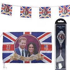 Royal Wedding Harry & Meghan Bunting(12x8'')/Flag(52 x 31'') /Chrome Plated Tea