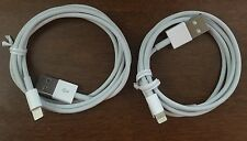 2 x Original Apple iPhone Lightning USB Cable, Data Sync Cable, Genuine
