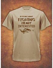 Not Fishing Not Interested  Christmas Xmas Present Gift Khaki T-shirt Carp