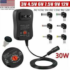 30W Universal Adjustable Ac/Dc Power Adapter 6V 9V 12V Power Supply Plug Charger