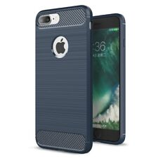 For iPhone 7 8 Plus Case - Shockproof Carbon Fiber Soft TPU Cover