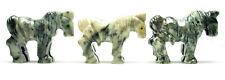CARVED - Gray DOLOMITE HORSE Spirit Animal Totem w/ Card - Healing Reiki Stone