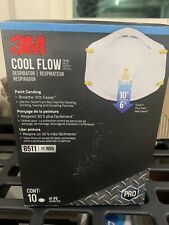 1 Box of 10 3M8511 w/ Cool Flow Valve. 10 pieces Brand New unopened