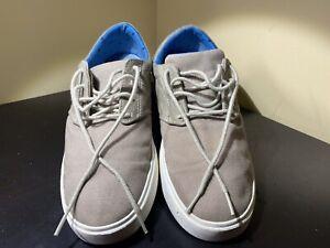 Crocs Citilane Khaki Canvas Sneaker Shoes Mens Size 8 Lace Up SN203969