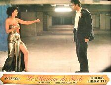 LE MARIAGE DU SIÈCLE - Anémone - SET 10 PHOTOGRAPHIES D'ÉPOQUE (1985)