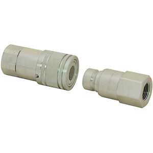 """1"""" NPT Flush Face Quick Coupler Set ISO 16028 Horizon KSP1 9-8720"""