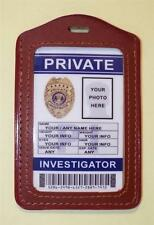 Private Investigator ID Badge >>>CUSTOMIZE WITH YOUR PHOTO & INFO<<< Style # 2