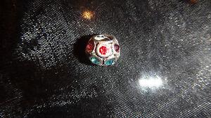 Lovely Multi Colour CZ Charm Bead