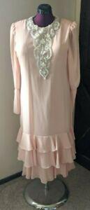 Vintage Mother Of The Bride/Groom Wedding Dress URSULA of Switzerland Pink 18