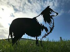 More details for rough collie dog metal garden art