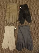 Estate lot of 4 Pair Supple Leather Driving Gloves Sz 8 Fownes Lined Kid Unworn?