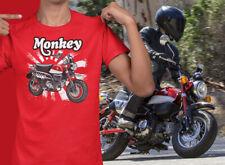 Honda Monkey Bike Rising Sun UNISEX Short Sleeve T-Shirt (red)