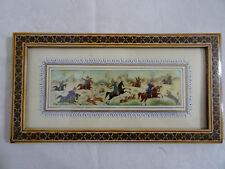Altes Bild auf Bein Lupenmalerei, Indien