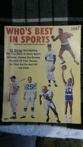 Vintage WHO'S BEST IN SPORTS BY EDITOR OF SPORT MAGAZINE 1961, 95 SPORTS STORIES