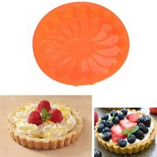 Silicone Kitchen Round Chocolate Cake Bread Pizza Mold Baking Pan New