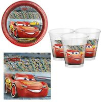 Niños Fiesta De Cumpleaños De Chicas 36 piezas Papel Vajilla Disney Cars Rayo