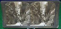 Antique Stereograph Card -Gorge of Partnack River, Bavaria, H.C. White - c.1902
