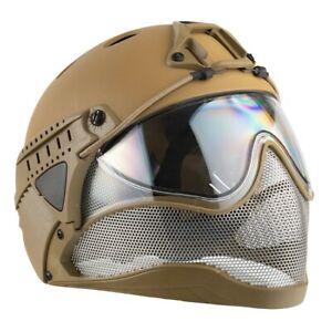 WarQ Taktischer Schutzhelm Airsoft Paintball Full Face First Helmet Tan Händler