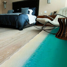 Huge 3D Exotic Blue Beach Removable Wall Decal Room Home Decor Floor Sticker