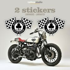 Ace Cafe Racer London 2 pegatinas moto Rocker bike stickers calcomania bicicleta