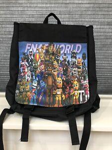 FNAF World Five Nights At Freddy's Black Backpack