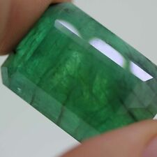 GIA Certified loose Natural Huge Step Cut Brazilian Green Emerald Beryl 86.71ct