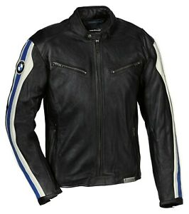 BMW Club Leather Men Jacket - Black Blue - Fast Shipping