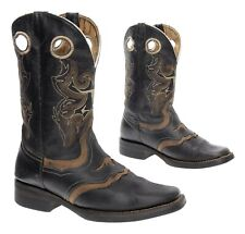 CUSTOM Cowboy Boots 6 Womens Fancy INLAYS Leather Vintage Western Roper Boots