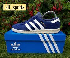 ❤ BNWB & Genuine Adidas Originals ® Hamburg OG Trainers Indigo Suede UK Size 7.5