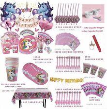 172 Pcs Unicorn Birthday Party Supplies Decoration Balloon Kit For Girls