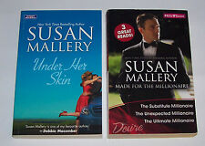 Susan Mallery Books x 2.Under Her Skin & Made for the Millionaire