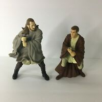 2 - Applause Star Wars Action Figures Obi Wan Kenobi Qui Gon 9""