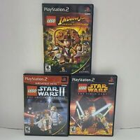 Lot Of 3 Sony PS2 Lego Games Star Wars Indiana Jones With Manuals Tested