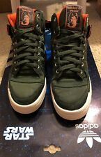 Men's Adidas Star Wars forum Han Solo High Top Sneakers Military Green Force