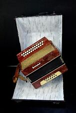 TOP BUTTON /CHROMATIC ACCORDION/BAYAN/Garmon 23x12 button keys+ORIGINAL HARDCASE