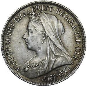 1897 SHILLING - VICTORIA BRITISH SILVER COIN - V NICE
