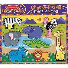 Melissa & Doug Safari Animals Chunky Puzzle 8pce