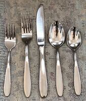 Oneida Stainless LUANN / JENNIFER / MOONCREST / TRISTA 5 Piece Setting EXCELLENT