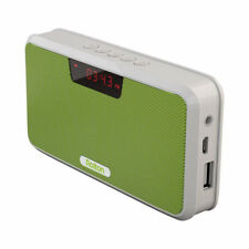 Bluetooth Portable Stereo Rechargeable Speaker Mini FM Radio with USB Power Bank