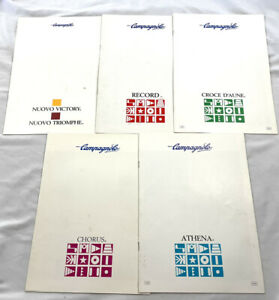 Campagnolo Catalogues Lot Of 5, Record, Chorus, Croce D'Aune Etc. Vintage Campy